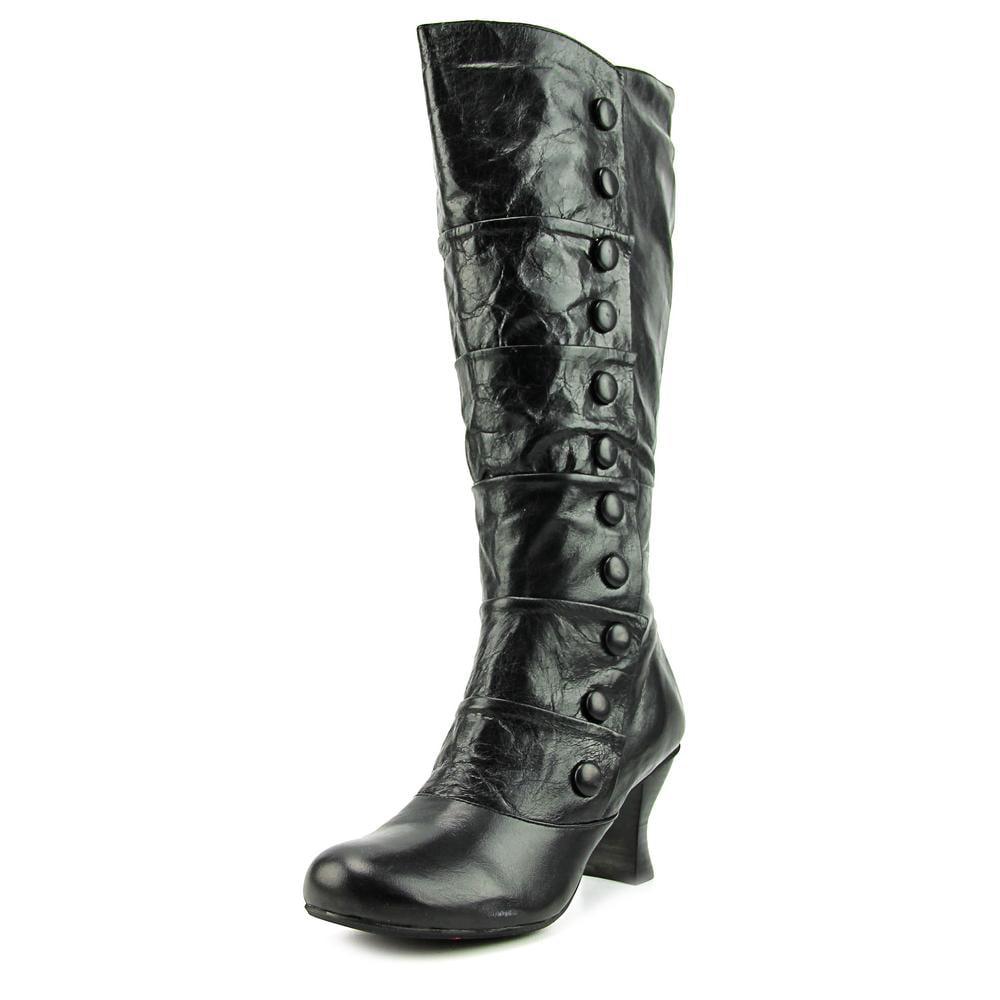 Miz Mooz Amelia Wide Calf Women  Round Toe Leather Black ...