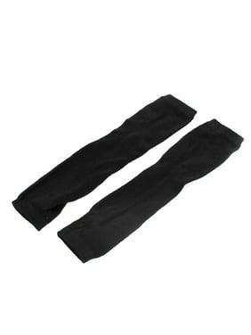 Women Cotton Blends Stretch Sleeve Fingerless Elbow Long Gloves Pair