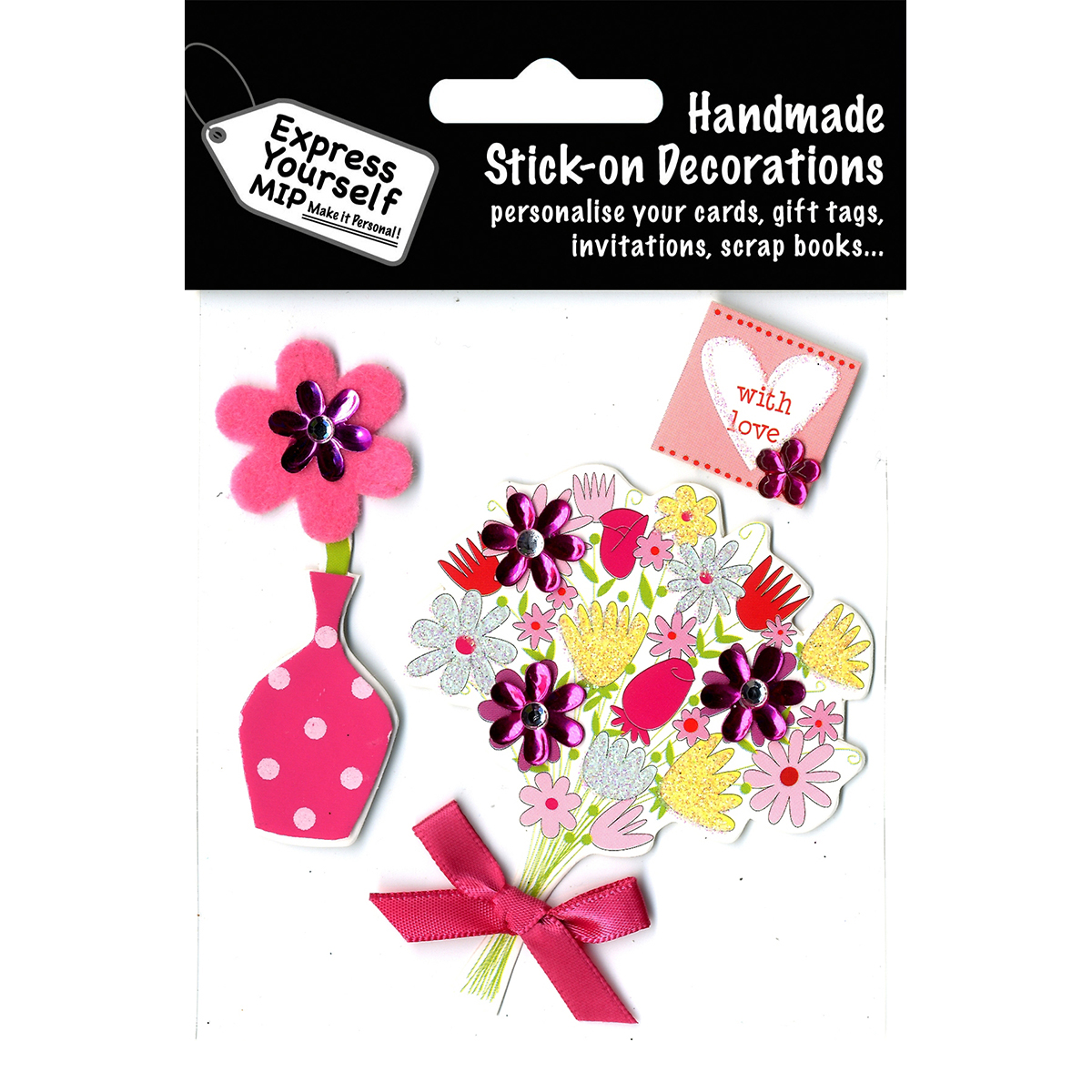 Express Yourself MIP 3D Stickers-Bouquet & Vase