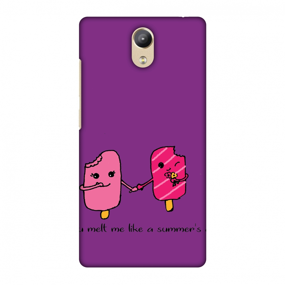 Lenovo Phab 2 Case - Ice Bar Couple- Purple, Hard Plastic Back Cover, Slim Profile Cute Printed Designer Snap on Case with Screen Cleaning Kit