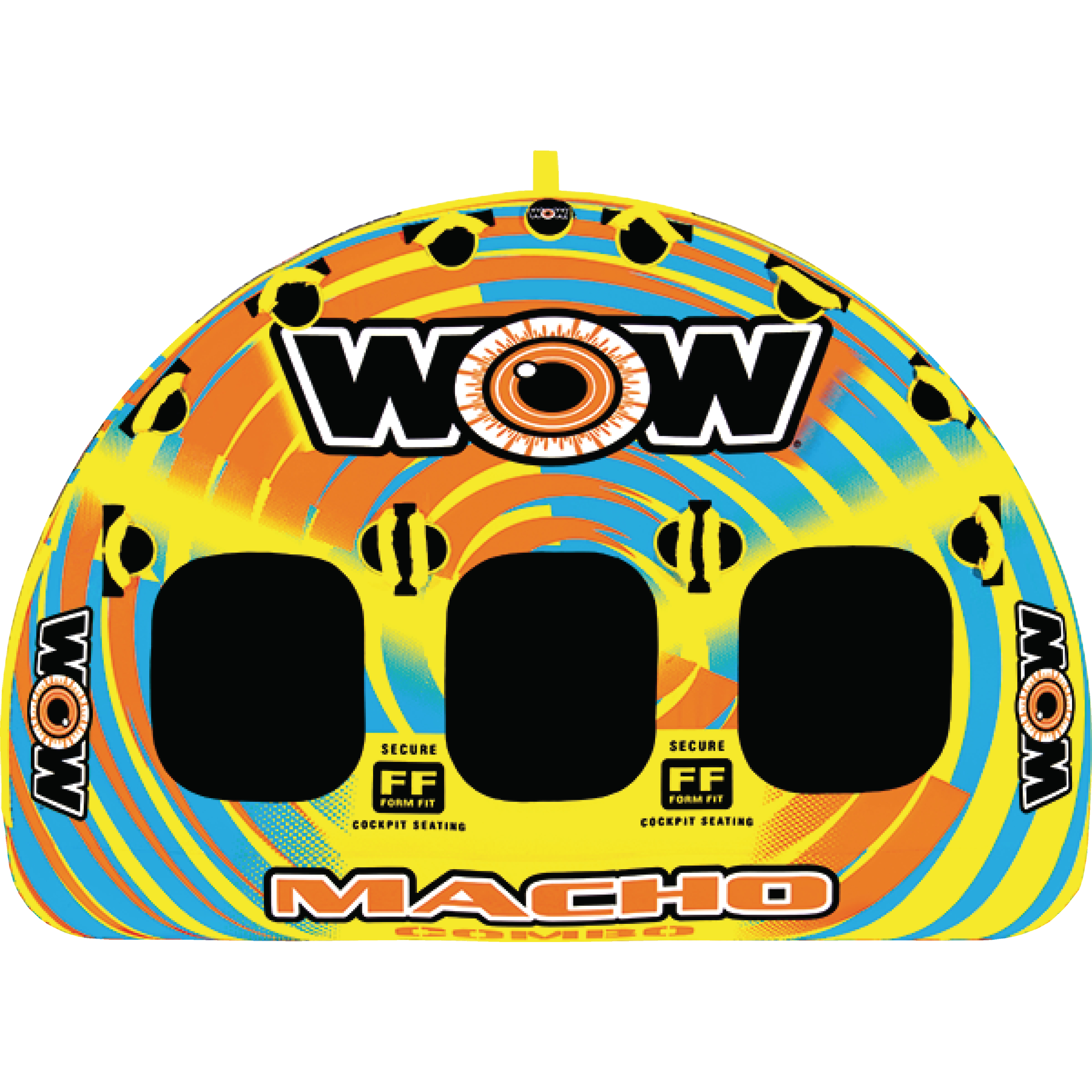 WOW 16-1030 Macho 1-3 Rider Inflatable Towable