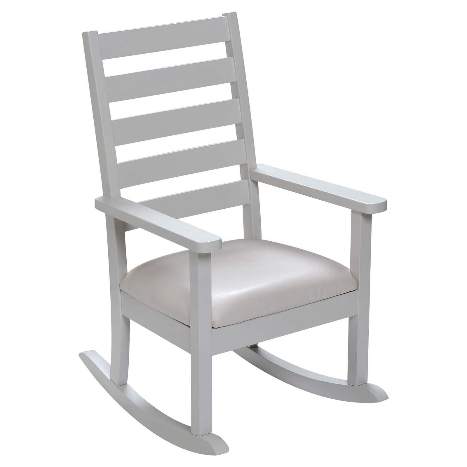 Gift Mark Kids Mission Style Ladder Back Rocking Chair with Upholstered Seat, Multiple Colors