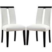 A Line Furniture Prinston Mid Century Modern Design White Parson Chairs (Set of 2)