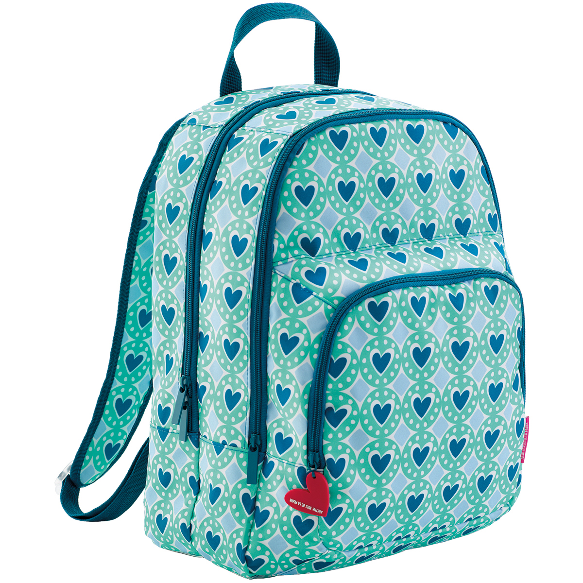"Three Compartment Backpack 12.5""X16.5""X6.5""-Badges"