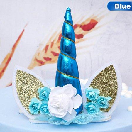 Grateful Dead Birthday Cake (KABOER Unicorn Horn Cake Topper Wedding Birthday Party Event Supply Home Grateful)