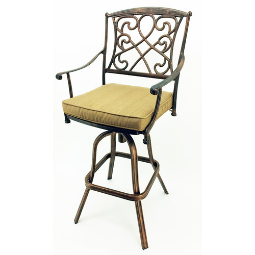 Vandue Corporation Wilshire 29.5'' Patio Bar Stool with Cushion (Set of 2)