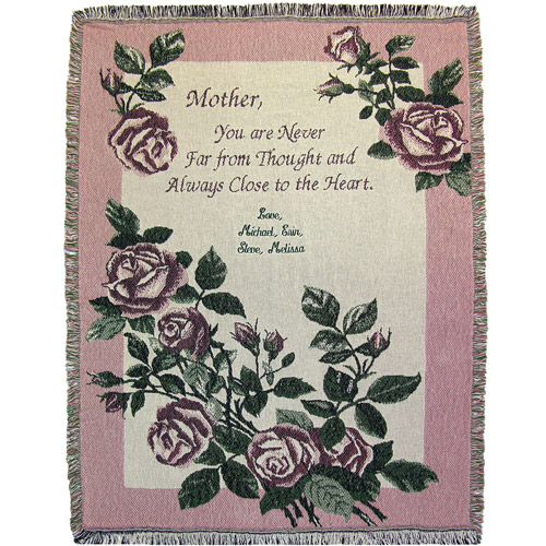 Mom's Personalized Roses Throw