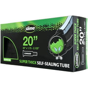 """Slime Super Thick Self-Sealing Replacement Bike/Bicycle Inner Tube, Schrader 20""""x1.75-2.125"""" - 30079"""