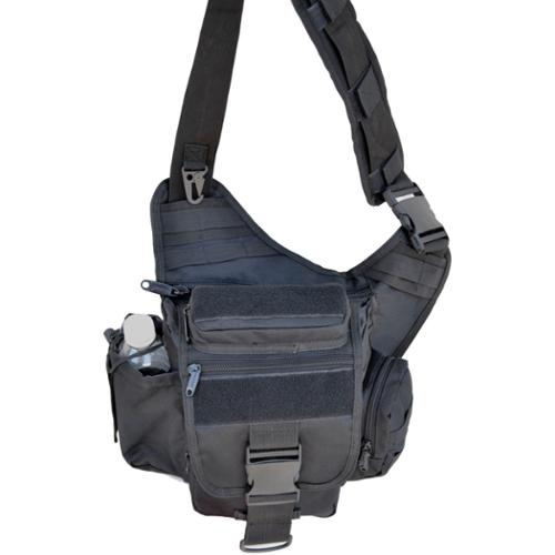 Explorer 9-inch Tactical Messenger Bag Black