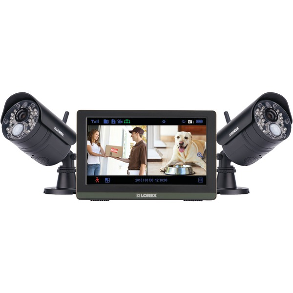 """Lorex LW2772H Wireless 4-Channel 720p HD Touchscreen Surveillance System with 7"""" LCD Screen and 2 Wireless Cameras"""