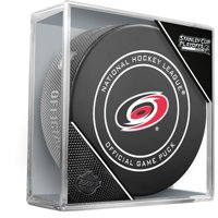 Carolina Hurricanes Unsigned InGlasCo 2019 Stanley Cup Playoffs Official Game Puck