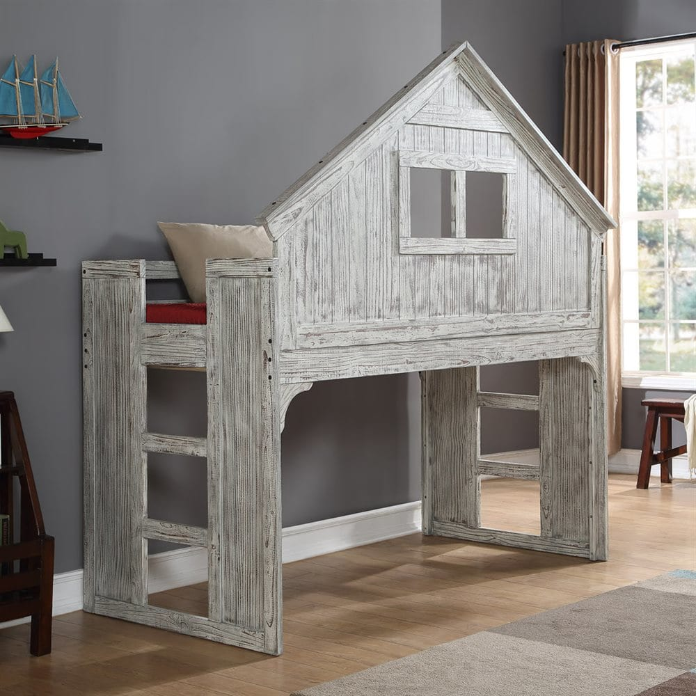 Donco Kids Driftwood Club-House Low Loft Bed