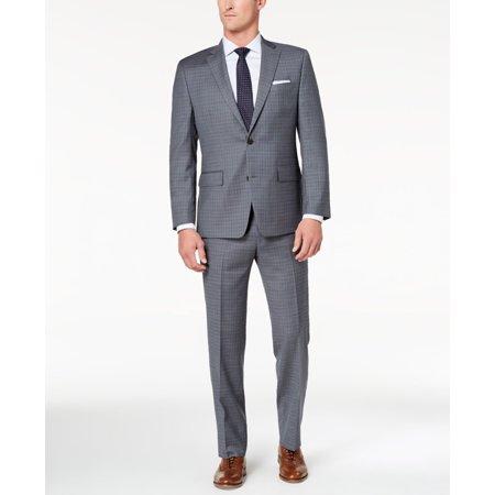 Plaid Wool Suit (Mens R Plaid Two Button Wool Suit Set 38 )