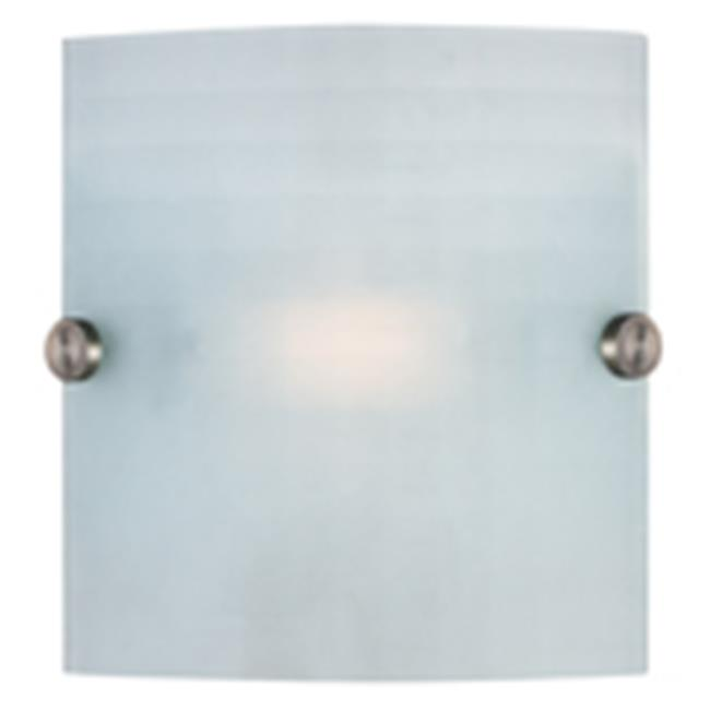 Access Lighting 62054LEDD-BS-CKF Radon Sconce Wall Fixture Brushed Steel & Checkered Frosted by Access Lighting