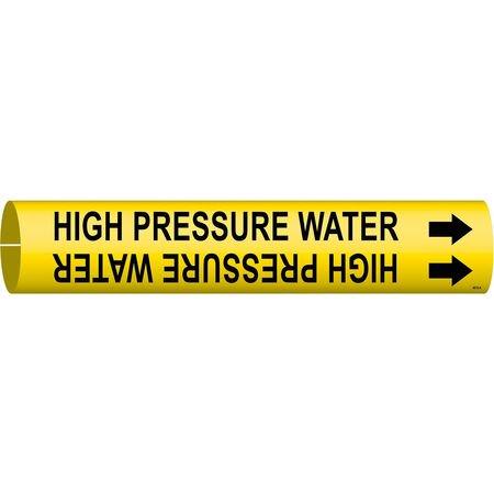 BRADY 4078-A Pipe Mrkr,High Pressure Water,3/4to1-3/8 (High Pressure Steel Pipe)