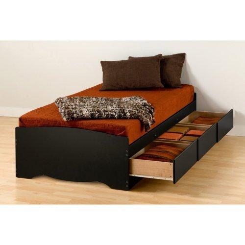 Twin XL Mates Platform Storage Bed, 3-Drawers