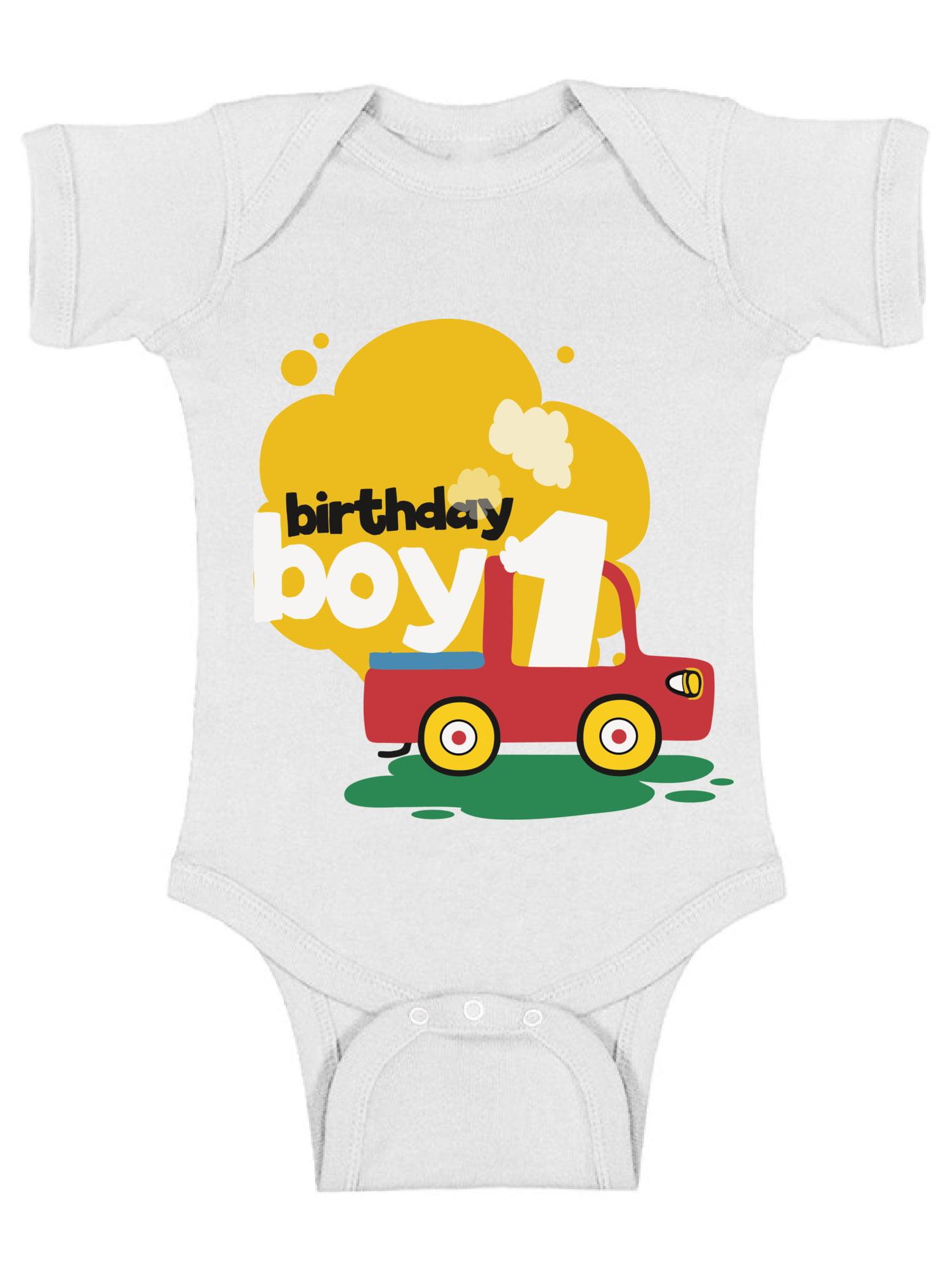 f0774fb410c63 Awkward Styles Birthday Boy Baby Bodysuit Short Sleeve Toy Truck ...