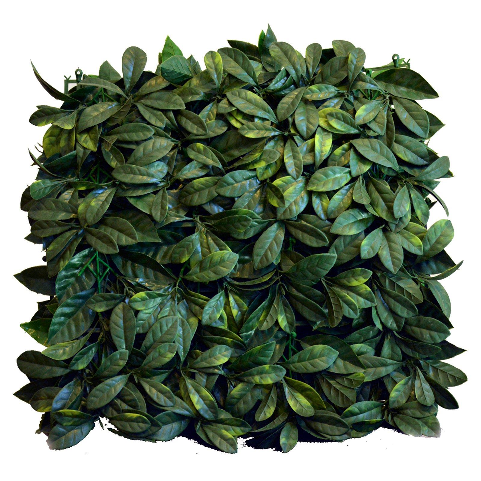 Greensmart Decor Artificial Greenery Lemon Leaf Wall Panels - Set of 4