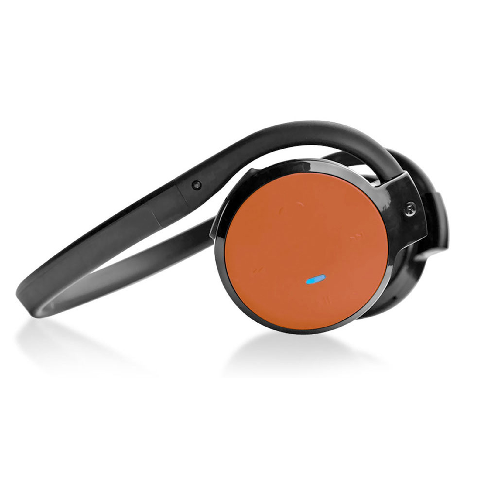 Pyle Stereo BT Streaming cord-free Headphones with Built-in Microphone - Works with All BT-Enabled Phones & Devices (Orange)