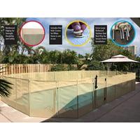 WaterWarden 4' Pool Safety Fence Beige