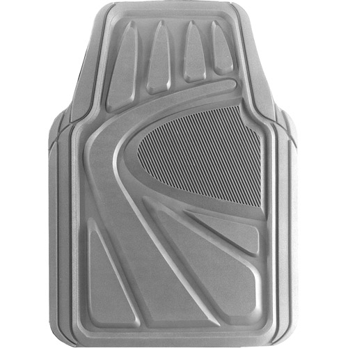 Kraco 4pc Best Rubber Floor Mats, Gray