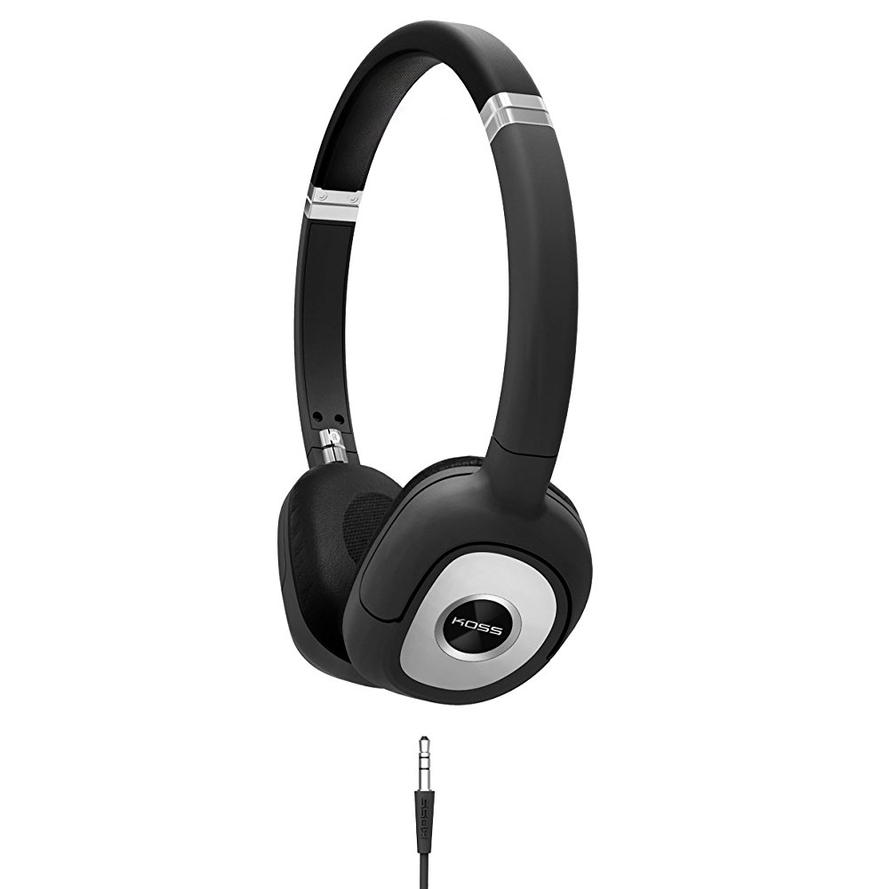 Koss SP330 On Ear Dynamic Headphones Black with Silver Accents by Koss