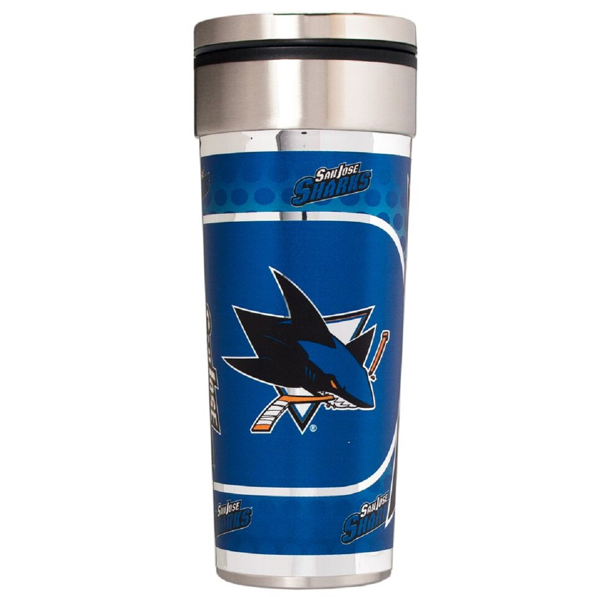 San Jose Sharks 22 oz. Stainless Steel Big Slim Travel Tumbler