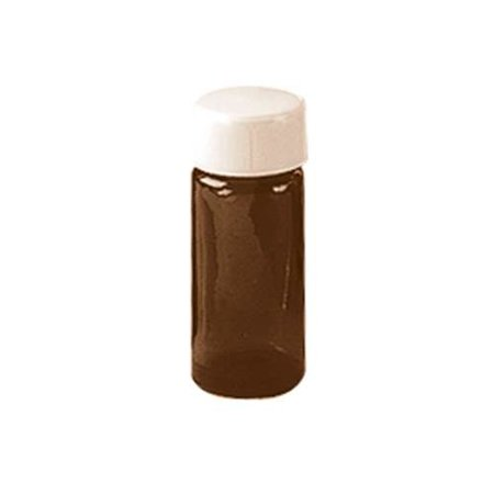 Frontier - Amber Oil Bottle with Cap 2 dram 8666 3 PACK SD