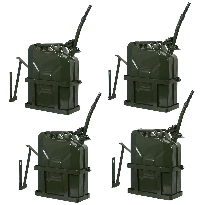 Zeny 4pcs Jerry Can 5 Gallon 20L Gas Fuel Army NATO Milit...