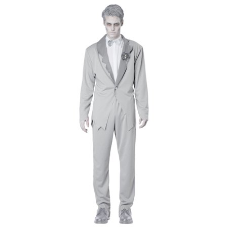Gothic Ghostly Groom Adult Mens Halloween Costume - 1920 Costumes