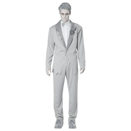 Gothic Ghostly Groom Adult Mens Halloween Costume](Ghostly Ghoul Costume)