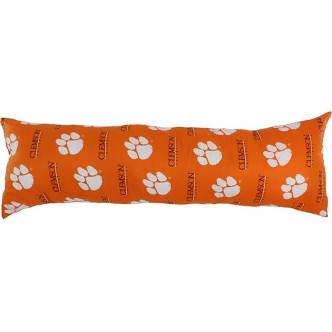 20 x 60 in. Clemson Tigers Printed Body Pillow