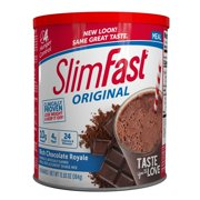SlimFast Original Meal Replacement Shake Mix, Rich Chocolate Royale, 12.83 Oz