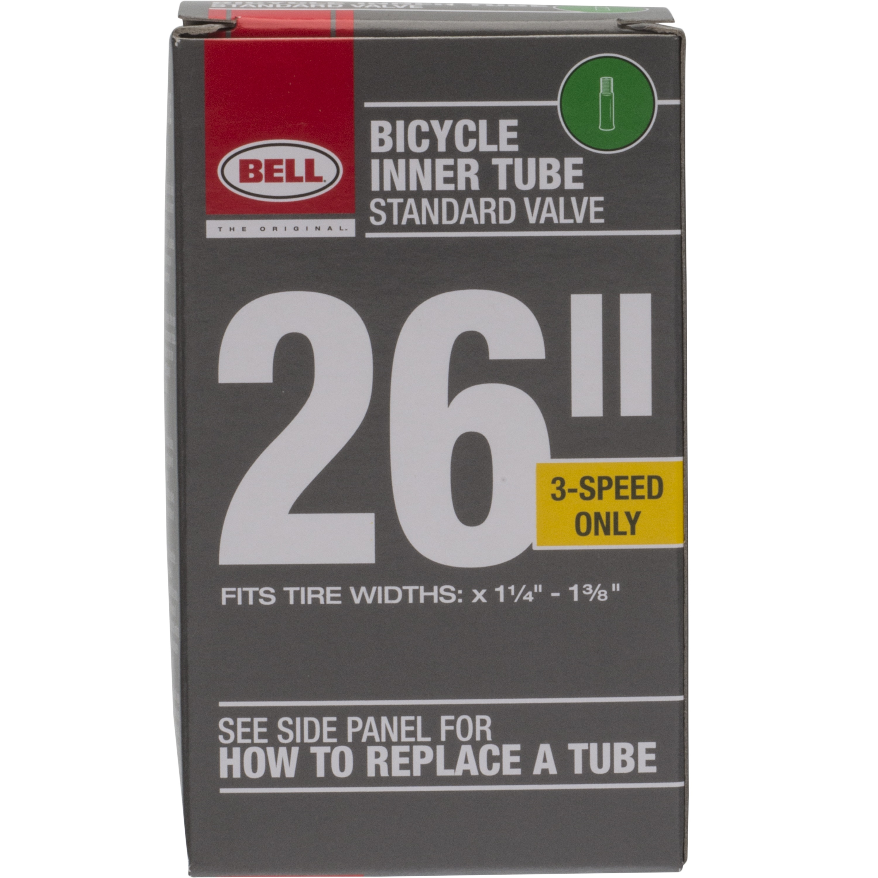 """Bell Sports Standard Schrader Replacement Bicycle Inner Tube, 26"""" x 1.375"""""""