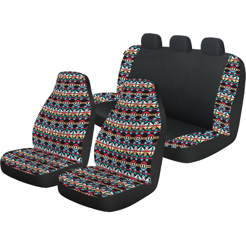 Auto Drive Bohemian Front and Rear Automotive Car Seat Cover Kit, 3-Piece - Walmart.com