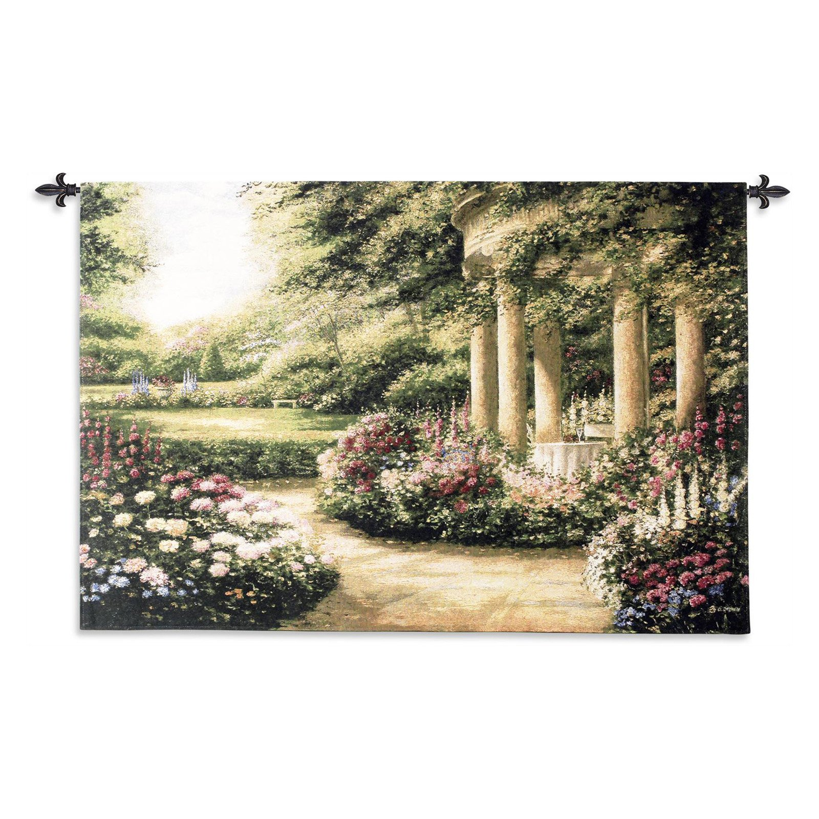 FineArtTapestries 1500-WH Westbury Gardens Wall Tapestry by Supplier Generic