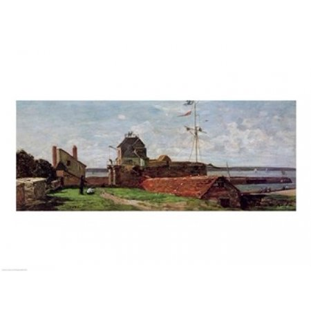 Image of The Francois Ier Tower at le Havre 1852 ( Canvas Art - Eugene louis Boudin (36 x 24)