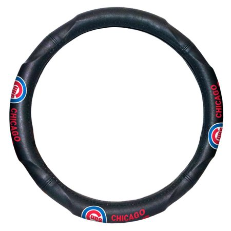 "MLB Chicago Cubs Steering Wheel Cover (Made to fit 14.5""-15.5"" steering wheels](Mlb Shop Nyc)"
