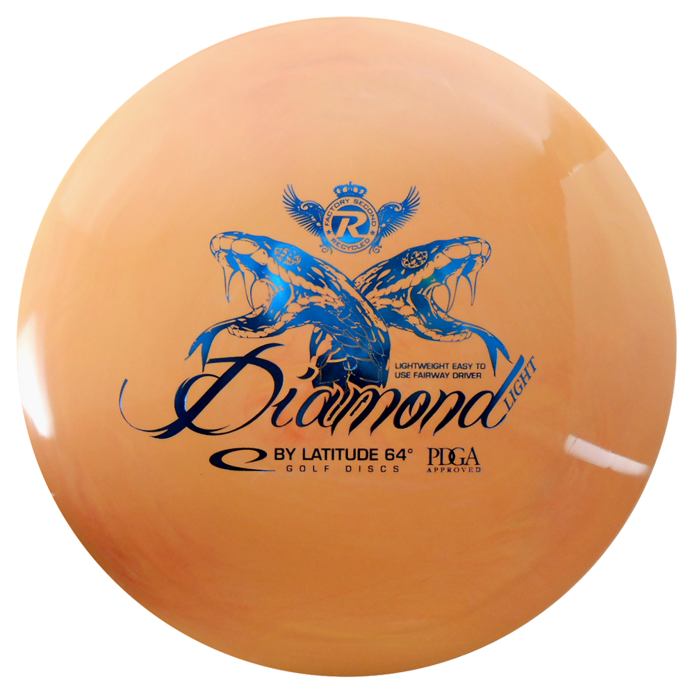 Latitude 64 Recycled Gold Diamond Light 150-159g Fairway Driver Golf Disc [Colors may vary] - 150-159g