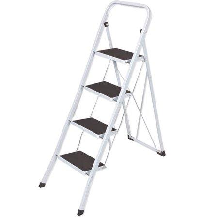 Amazing Above Edge Inc 4 Step Aluminum Folding Lightweight Step Stool With 280 Lb Load Capacity Machost Co Dining Chair Design Ideas Machostcouk