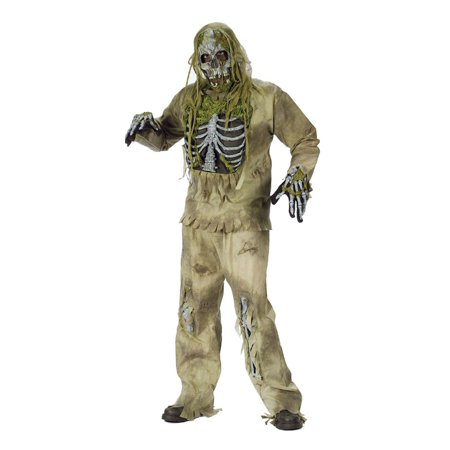 Skeleton Riding Mask (Totally Ghoul Mens Skeleton Zombie Costume &)