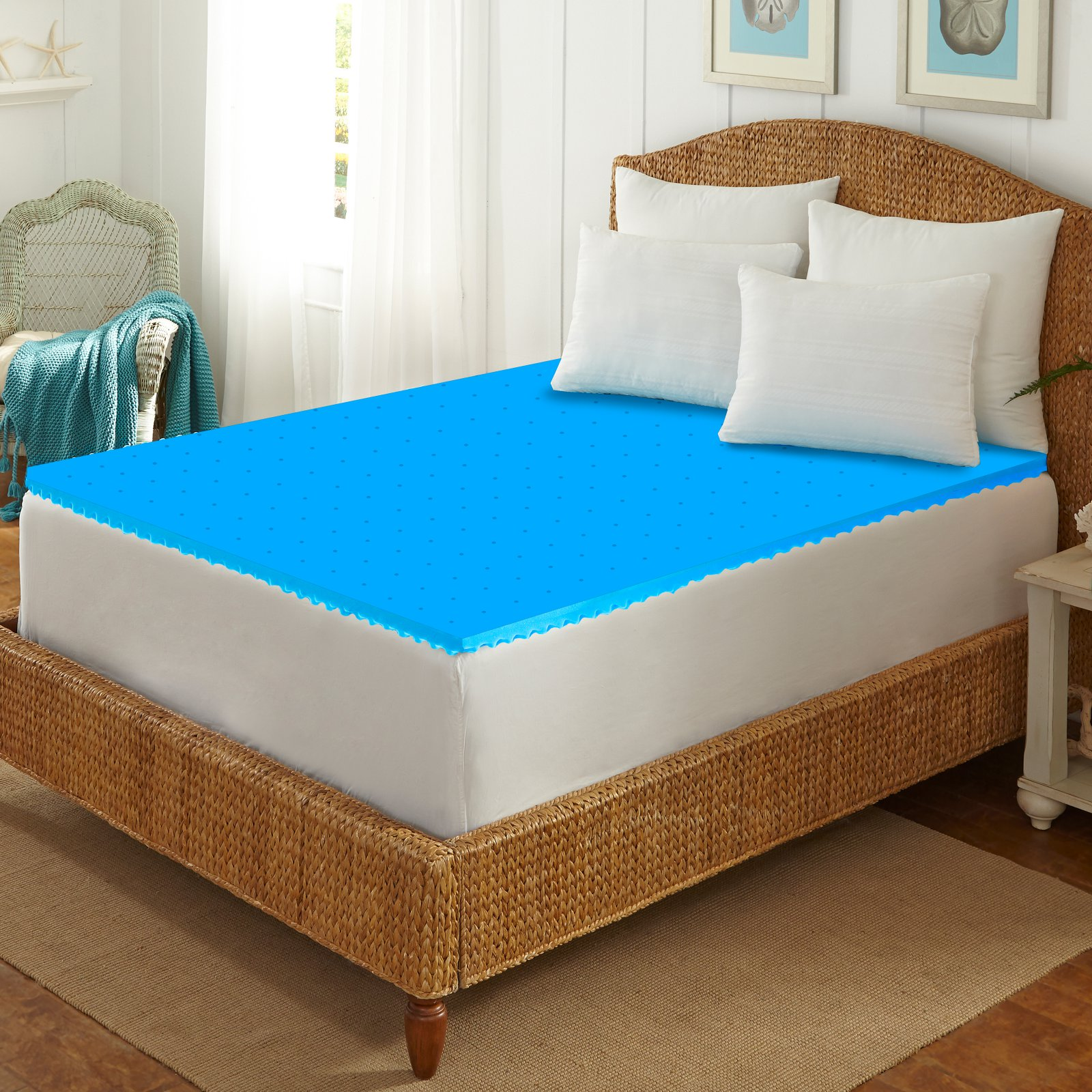 Arctic Sleep by Pure Rest Cool-Blue Memory Foam Topper