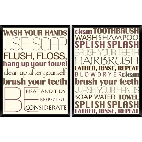 PTM Images 2-Panel Bathroom Wall Art