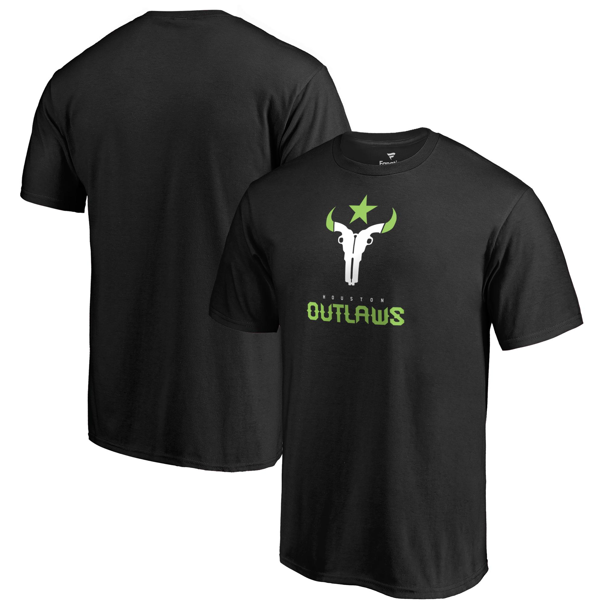 Houston Outlaws Fanatics Branded Team Identity T-Shirt - Black