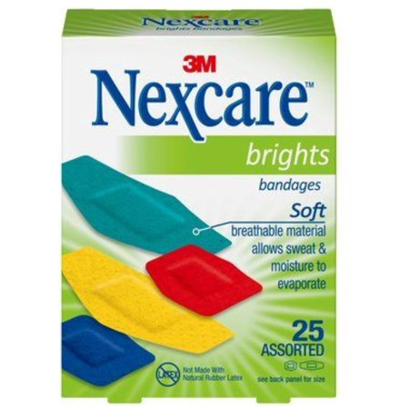 4 Pack - Nexcare Brights Comfort Fabric Bandages Assorted 25 Each ()