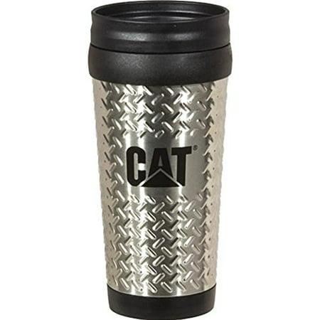 Caterpillar CAT Equipment Stainless Steel 14oz. Diamond Plated Travel Mug