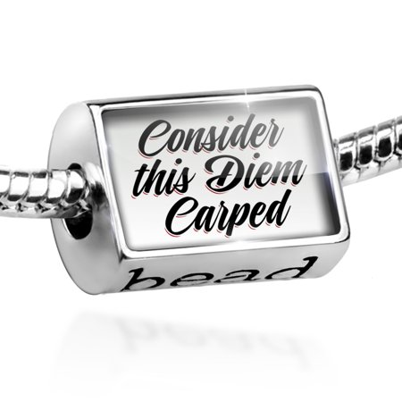 Bead Vintage Lettering Consider this Diem Carped Charm Fits All European Bracelets