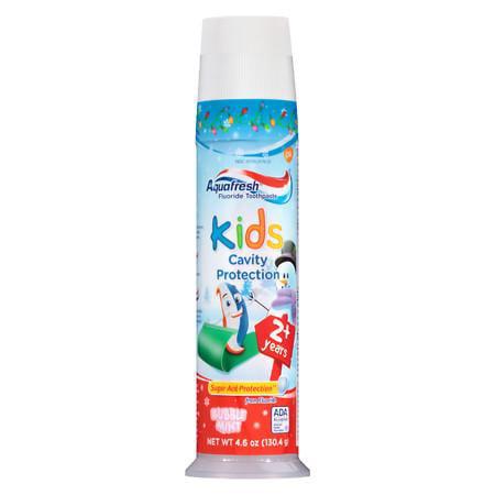 Aquafresh Enfants Protection Cavity Dentifrice Bubblemint Fluoride 4,6 oz (paquet de 12)