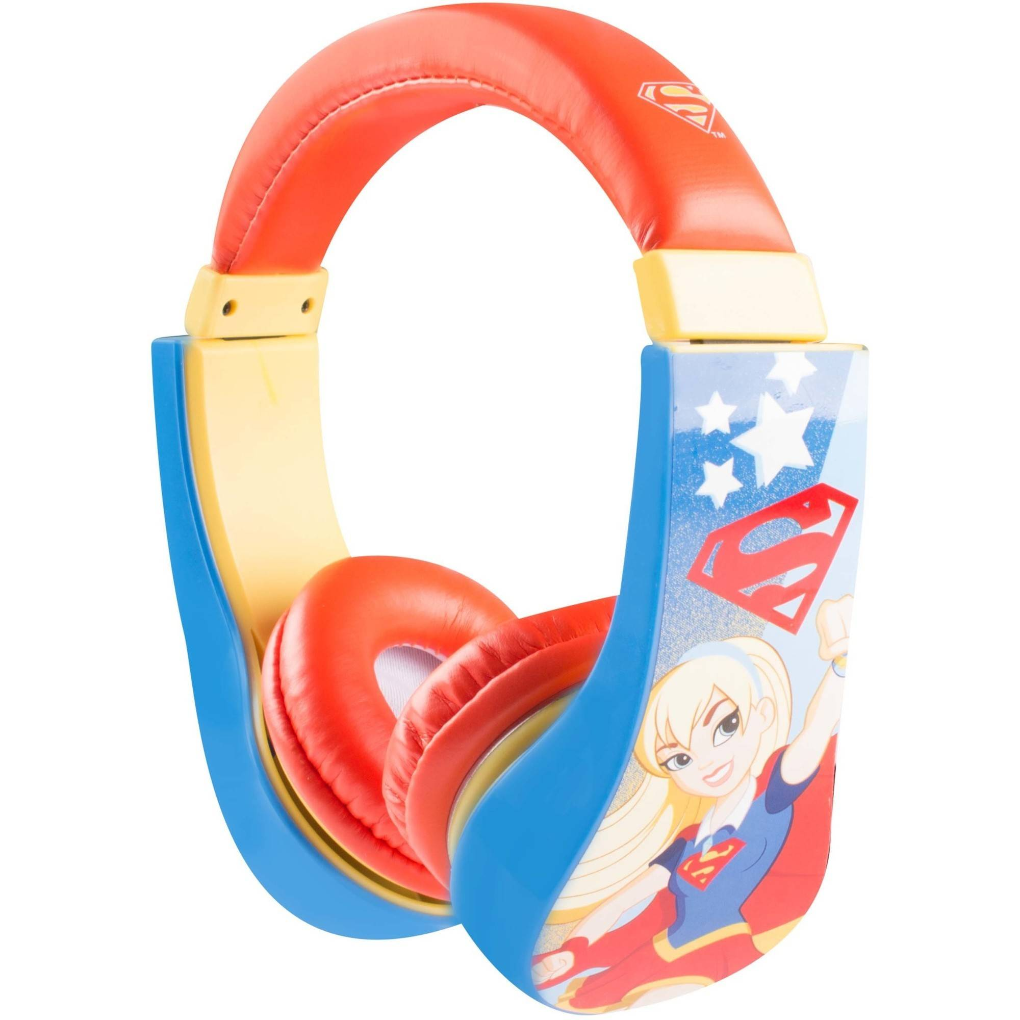 Sakar DC Comics 30393-SG Supergirl Large Kids Safe Headphones