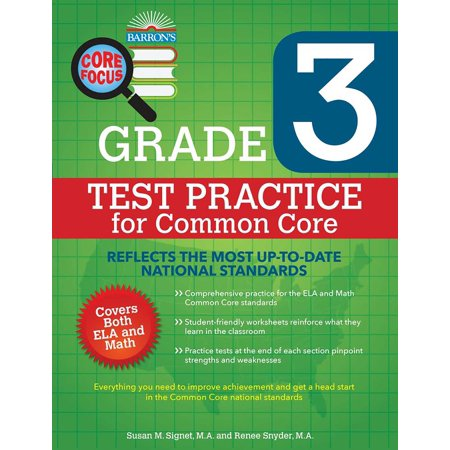 Barron's Core Focus Grade 3: Test Practice for Common Core ()